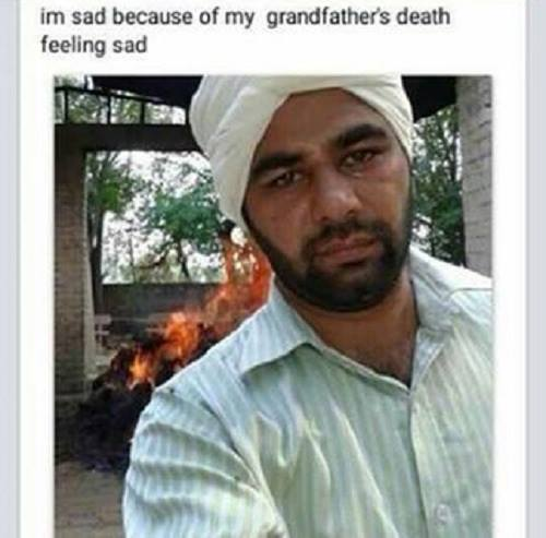 selfie at cremation time